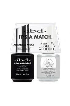 ibd Just Gel Polish No Cleanse Top Coat It's A Match Duo Pack
